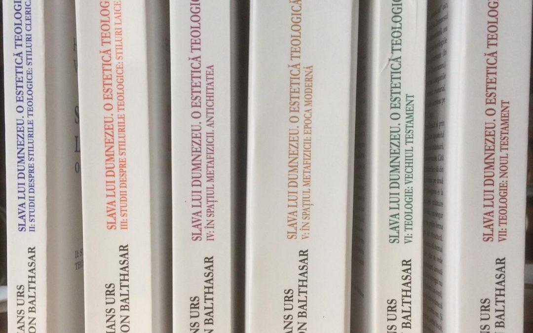 Prelegeri online despre Teologia Slavei, cu ocazia traducerii în limba română a lucrării Slava (Herrlichkeit) de Hans Urs von Balthasar, vol. 1-7, trad. Maria Magdalena Anghelescu, Ed. Galaxia Gutenberg